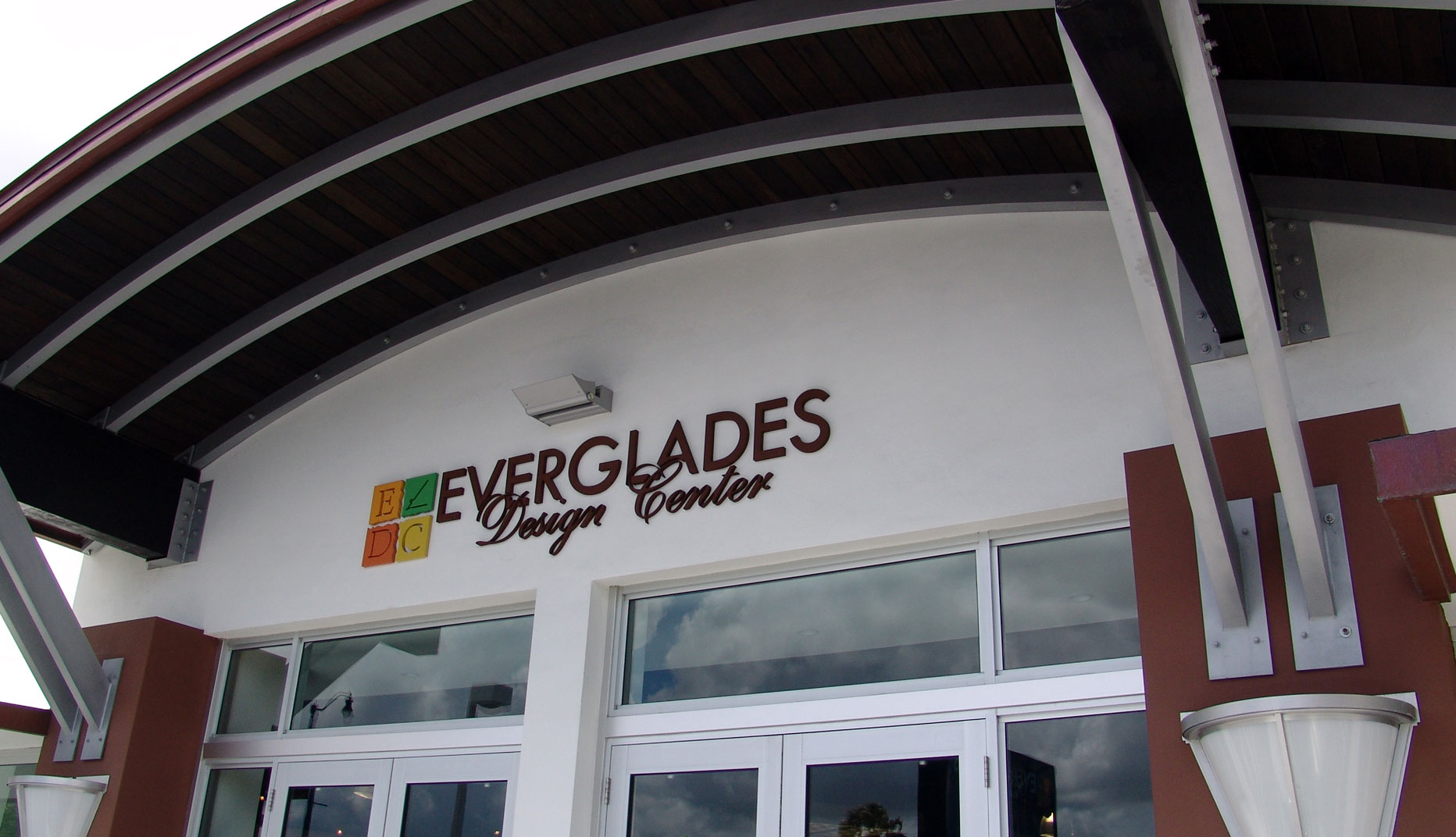 photo of the entrance to the everglades design center