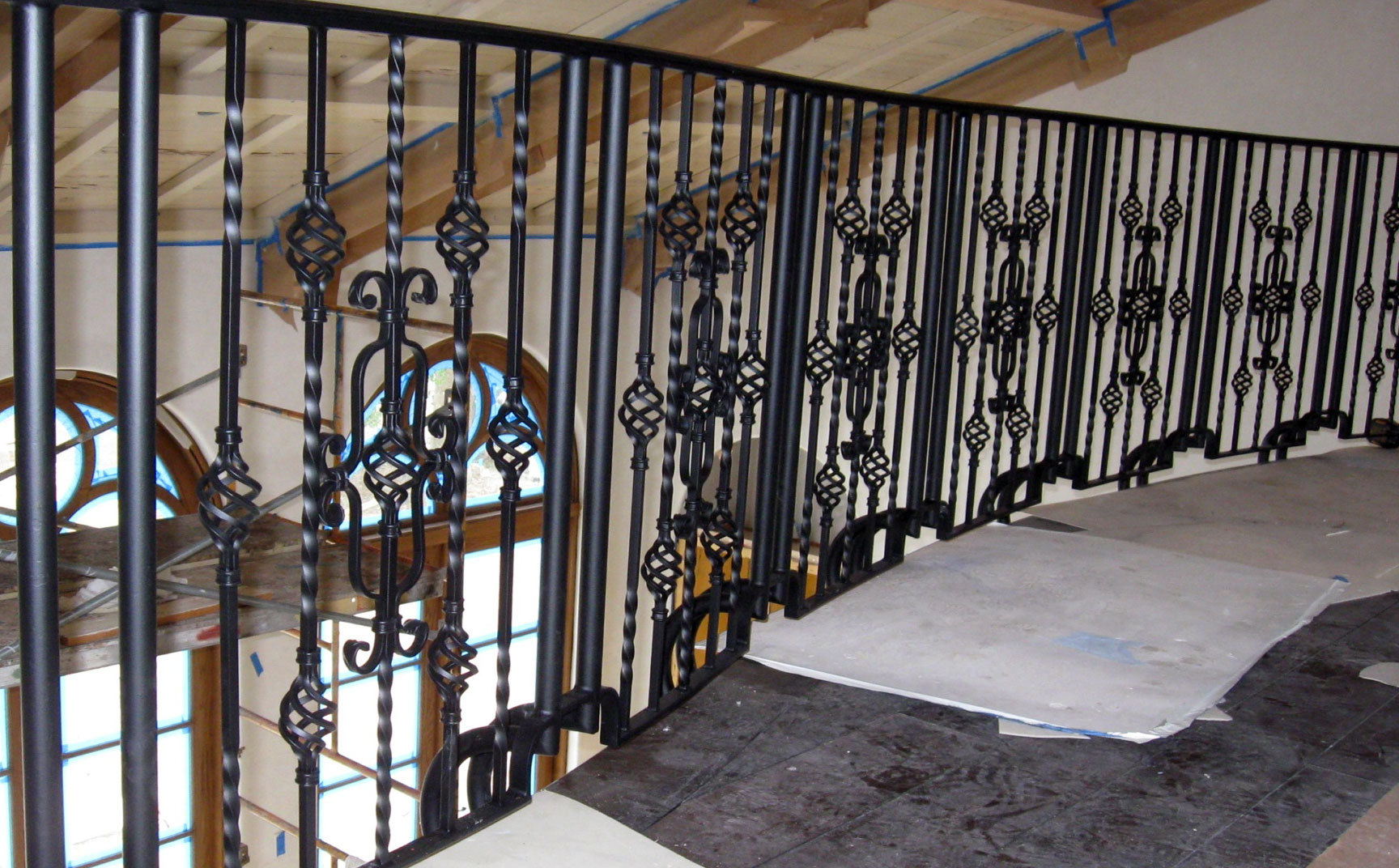 photo of an iron railing