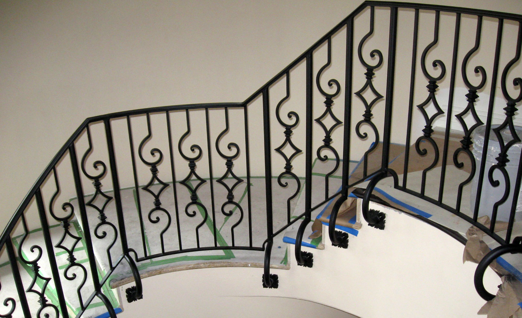 photo of an iron spiral staircase