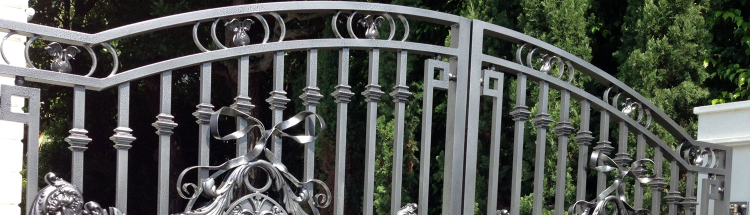 cropped shot of an iron gate