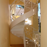 photo of a residential iron spiral staircase