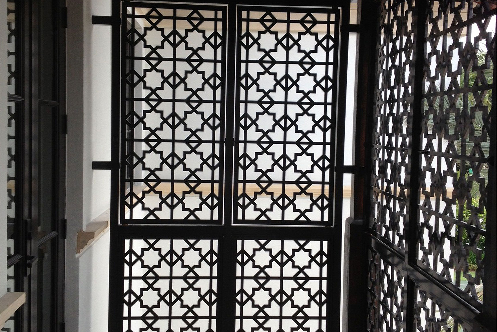 photo of a residential iron gate