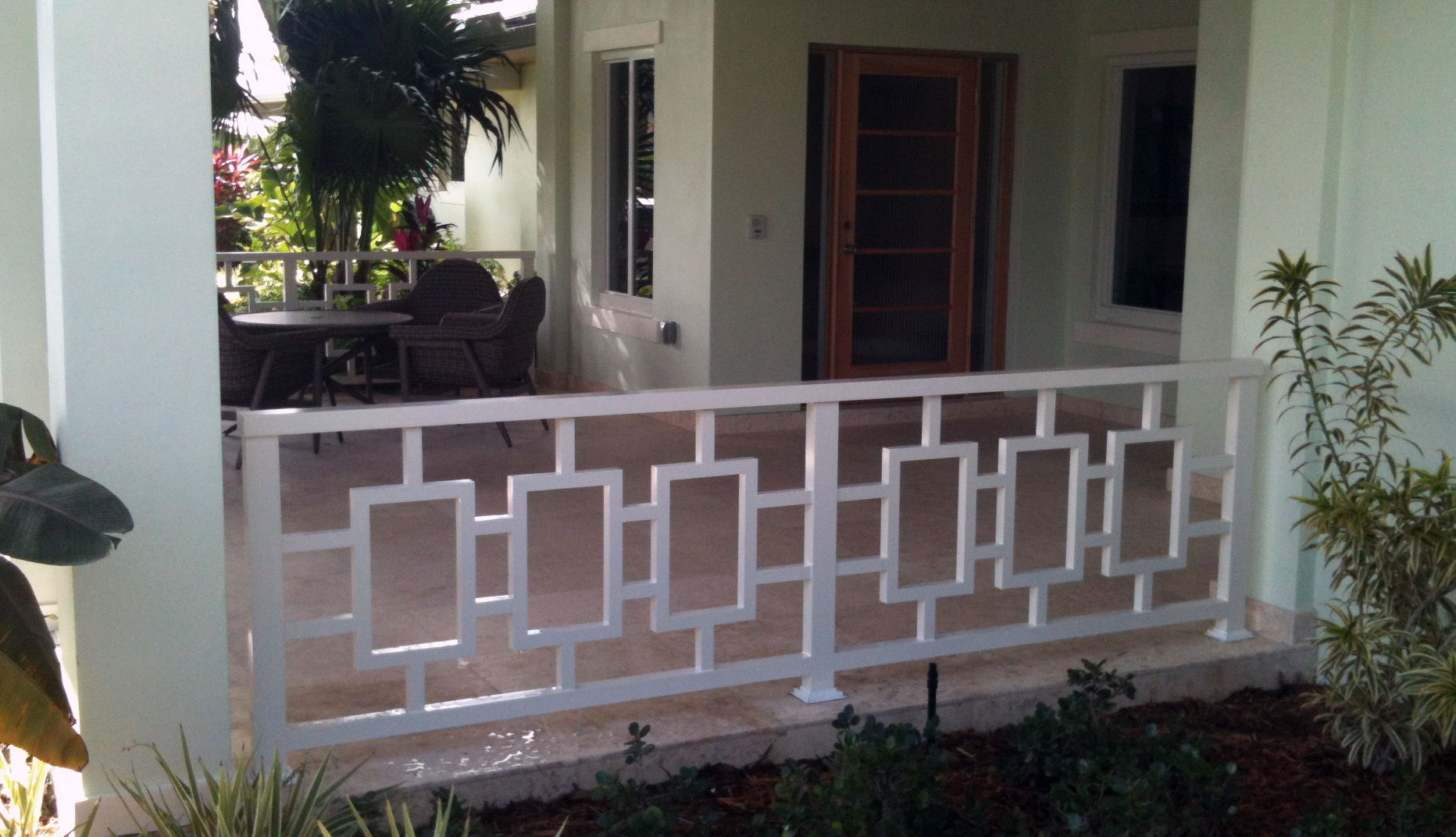 photo of a residential iron fence