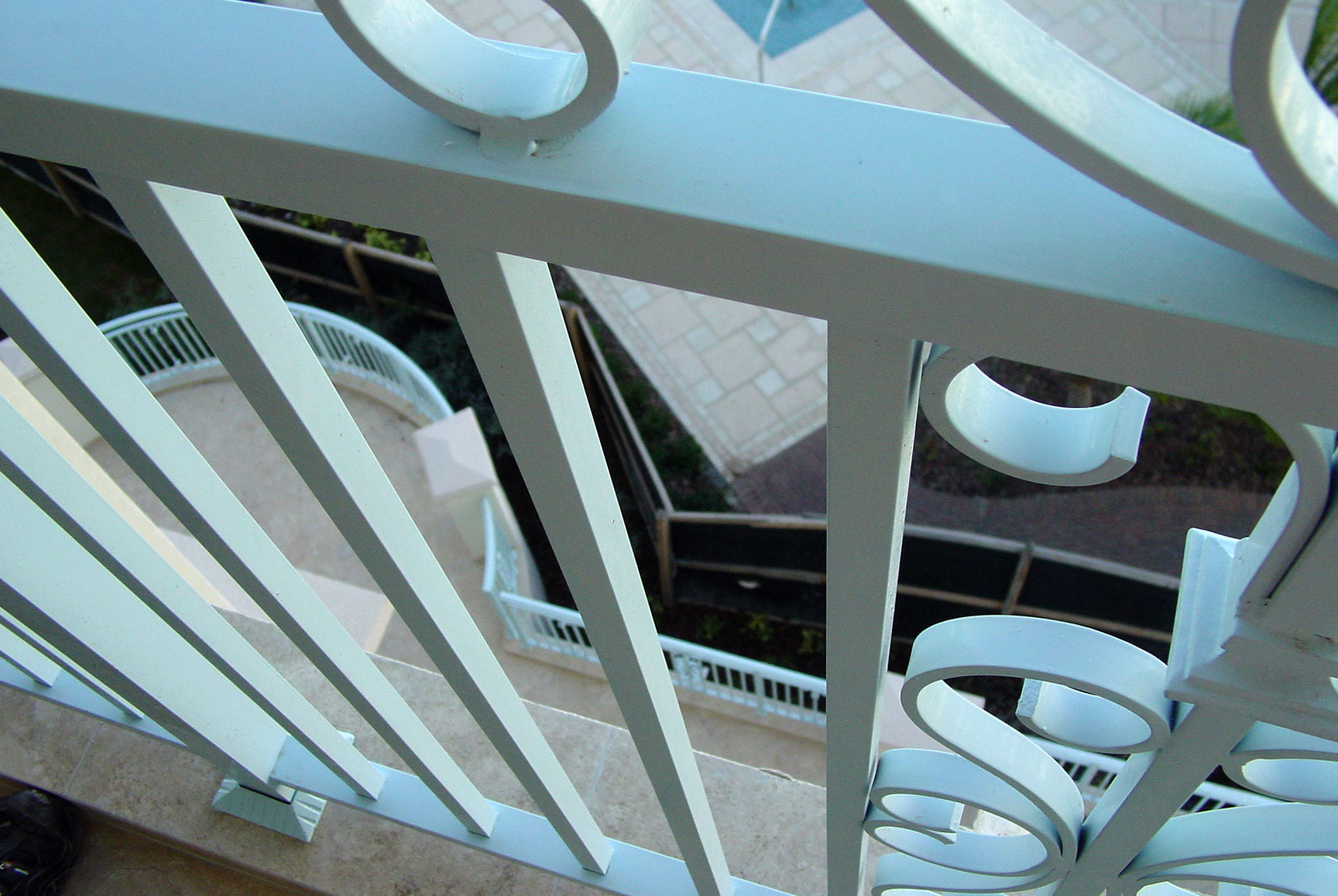photo of iron railing