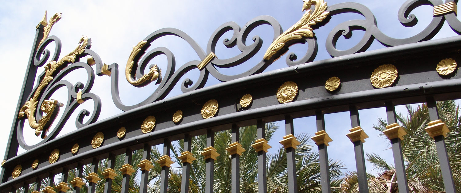 cropped photo of an iron gate
