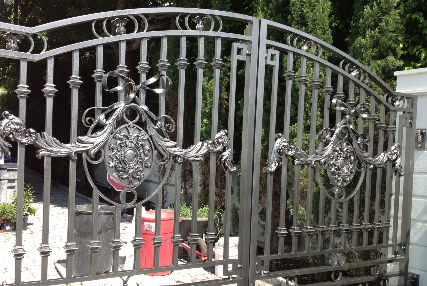 photo of an iron gate