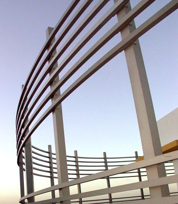 photo of metal railing